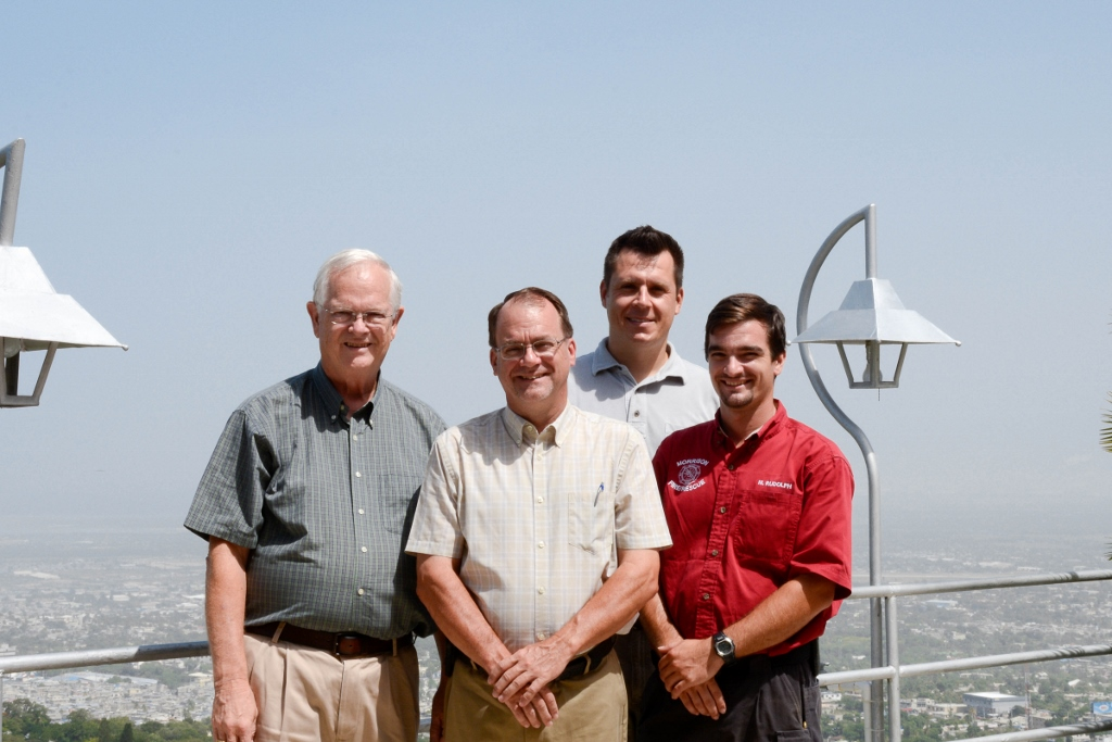 Left to Right: Larry Sherraden, Philip Rudolph, Dr. Caleb Trent, Michael Rudolph